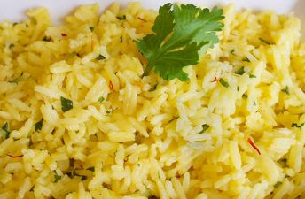 Lime Saffron Rice with Cilantro