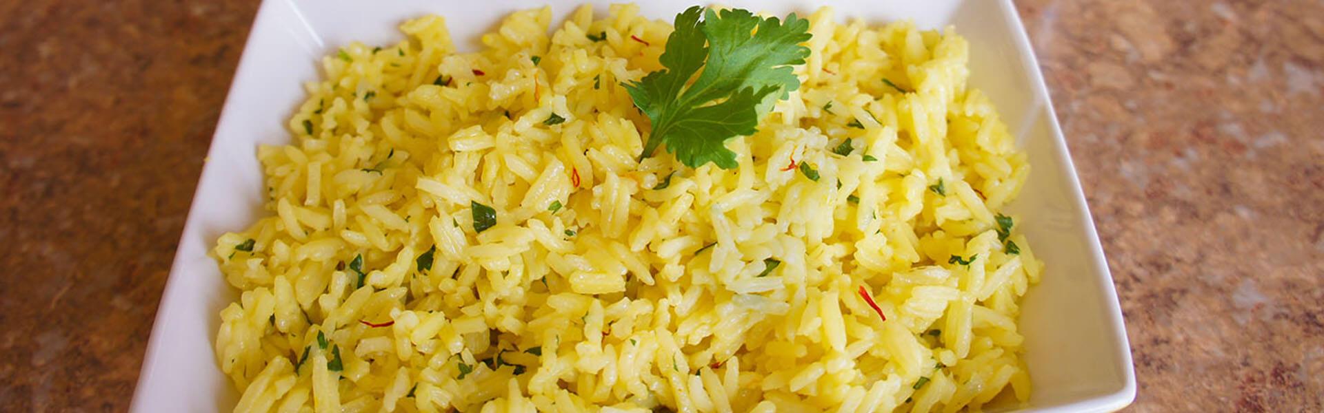Lime and Saffron Basmati Rice