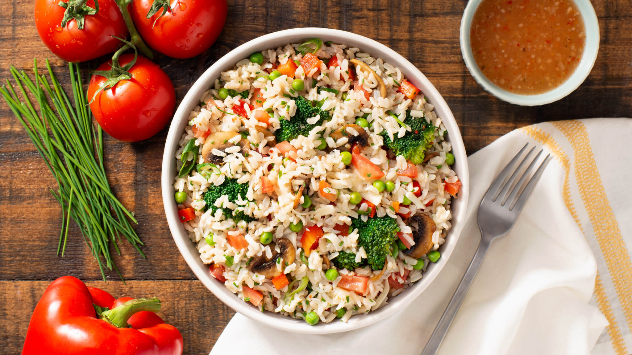 Mediterranean Layered Rice Salad