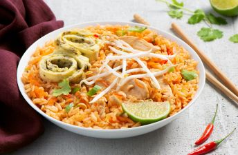 Fried Rice Pad Thai with Japanese Omelet