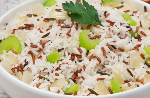 Pilaf Rice with celery, jasmine and wild rice