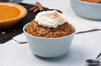 Pumpkin Spiced Latte Rice Pudding with Cinnamon and Vanilla extract