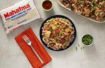 Spicy-Cajun-Jambalaya-with-chicken-sausage-and-white-rice