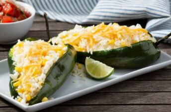 Rice-Stuffed-Poblano-Peppers-with-Cheese-and-Lemon