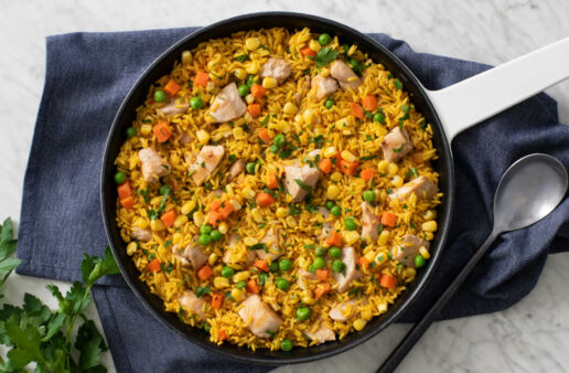 Spicy Yellow Rice with Chicken and Vegetables