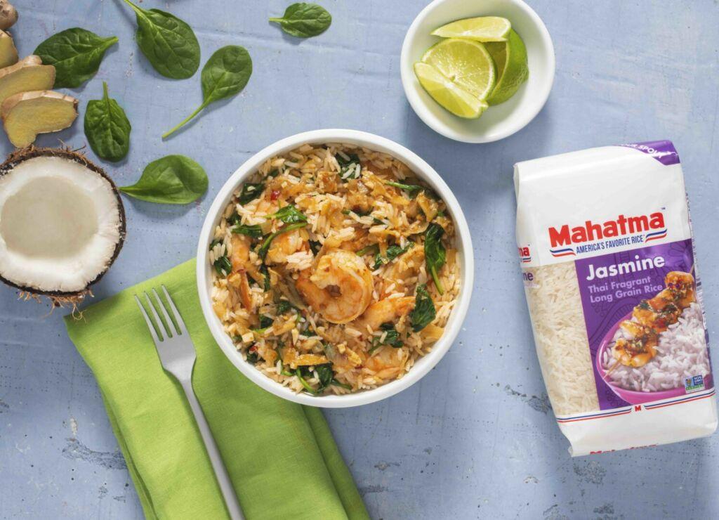 Coconut-Rice-with-Shrimp-made-with-mahatma-jasmine-rice