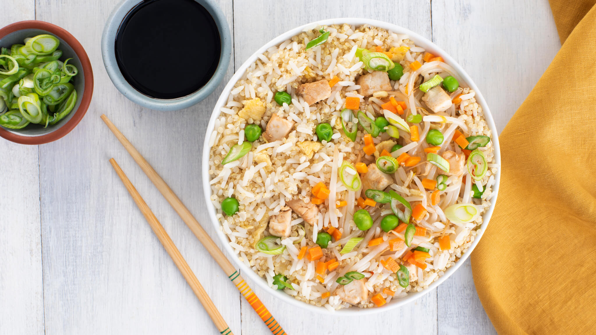 Chicken Stir Fried Rice With Quinoa Mahatma Rice