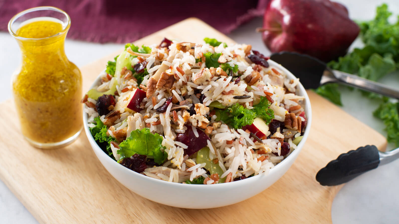 Chicken & Rice Salad with Orange Dressing