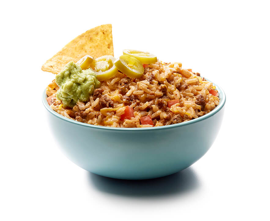 Dip de arroz con nachos