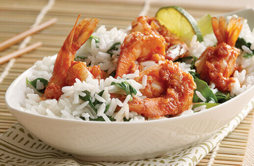 Coconut Jasmine Rice with Shrimp