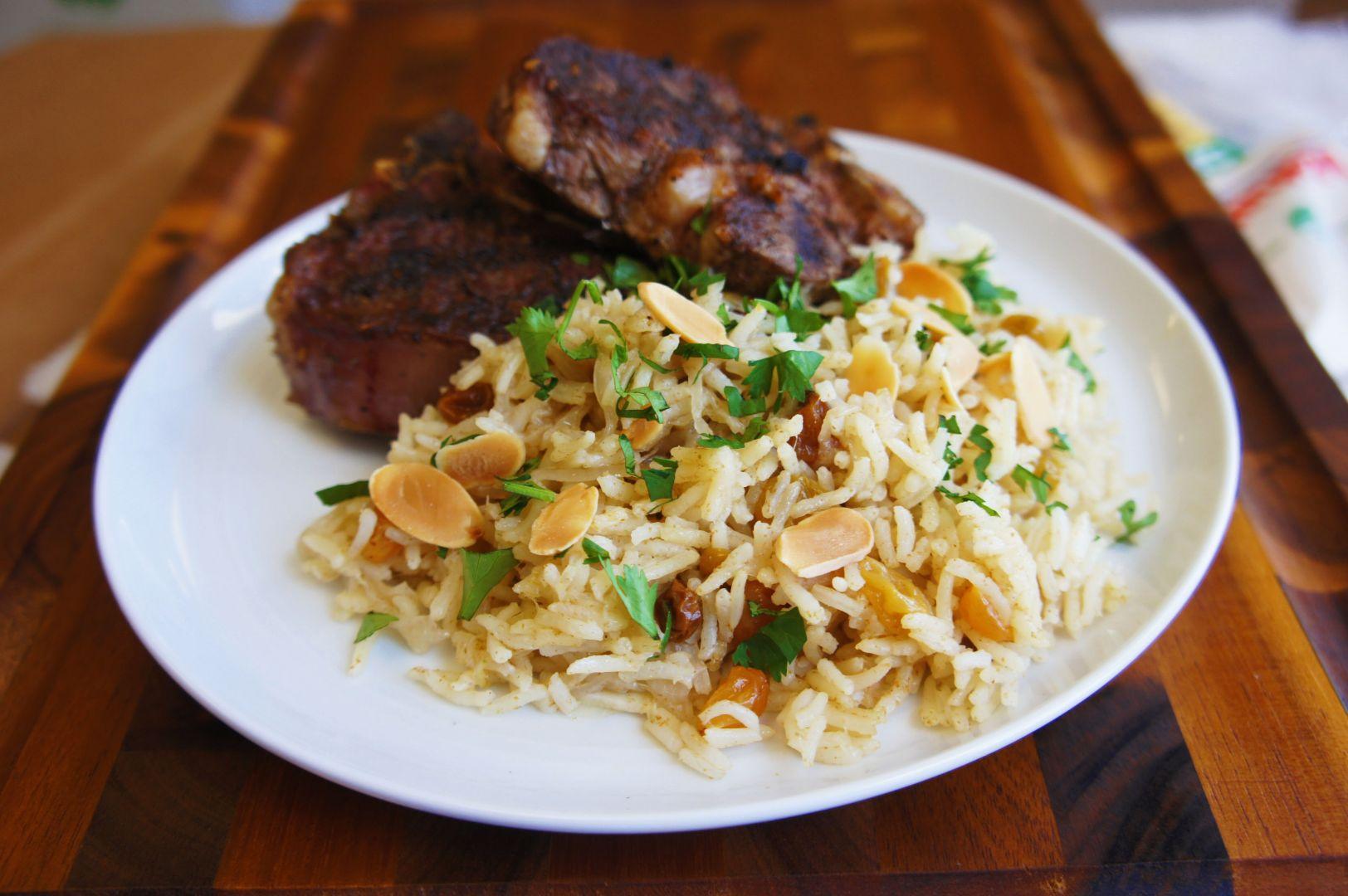 Pilaf de arroz basmati