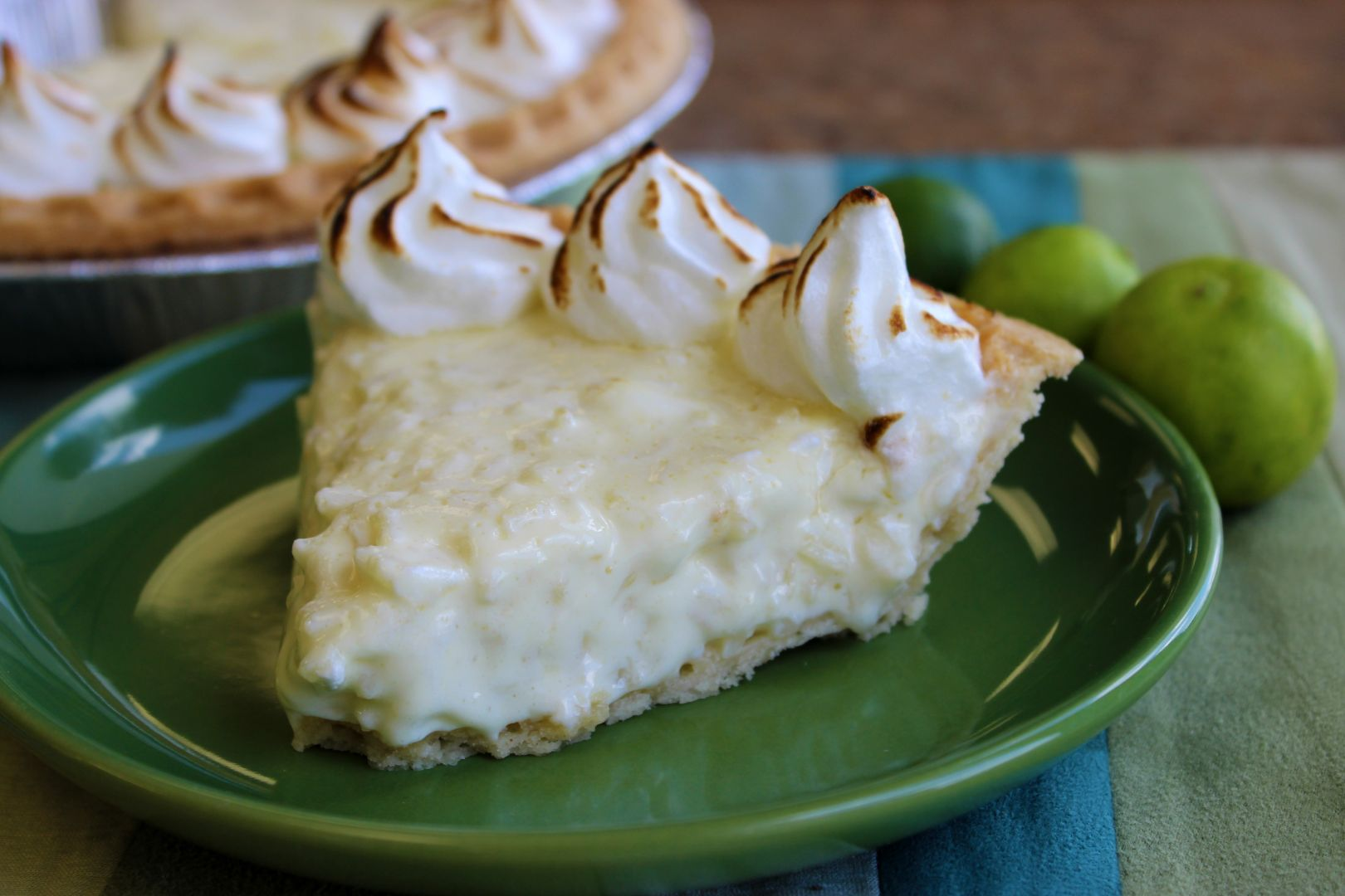 Key Lime Rice Pudding Pie