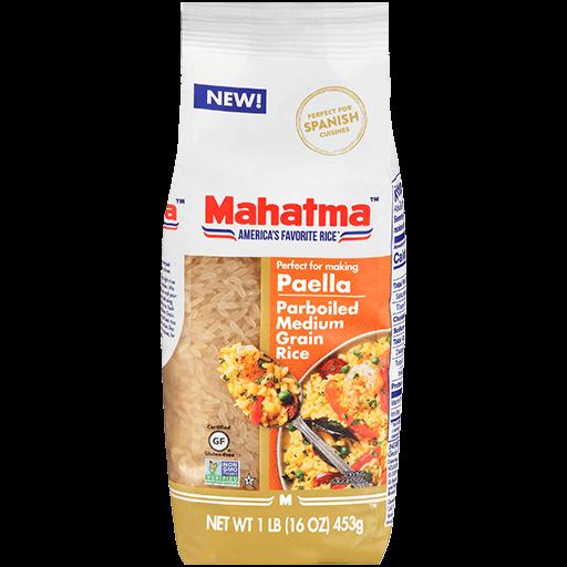 Paquete de Arroz Mahatma® arroz vaporizado de grano medio ideal para paella