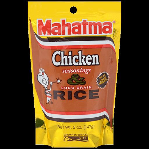 Chicken seasoned long-grain rice mixture