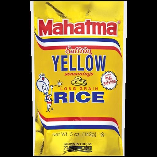 Paquete de arroz amarillo Mahatma® con sazonadores