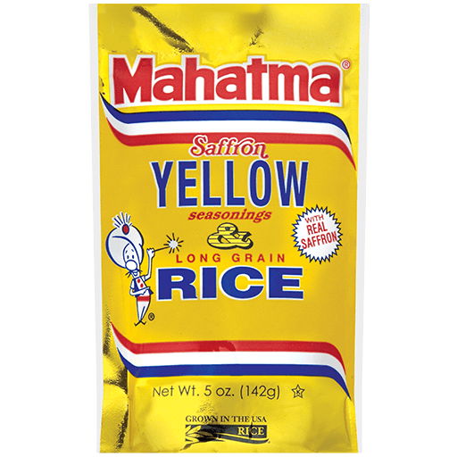 Saffron Yellow Seasoned long-grain rice blend