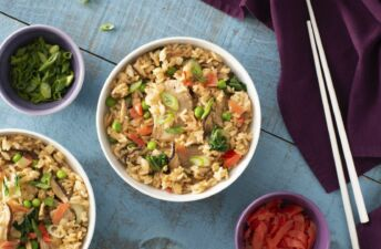 Ginger Pork Fried Rice with Jasmine Rice and Vegetables