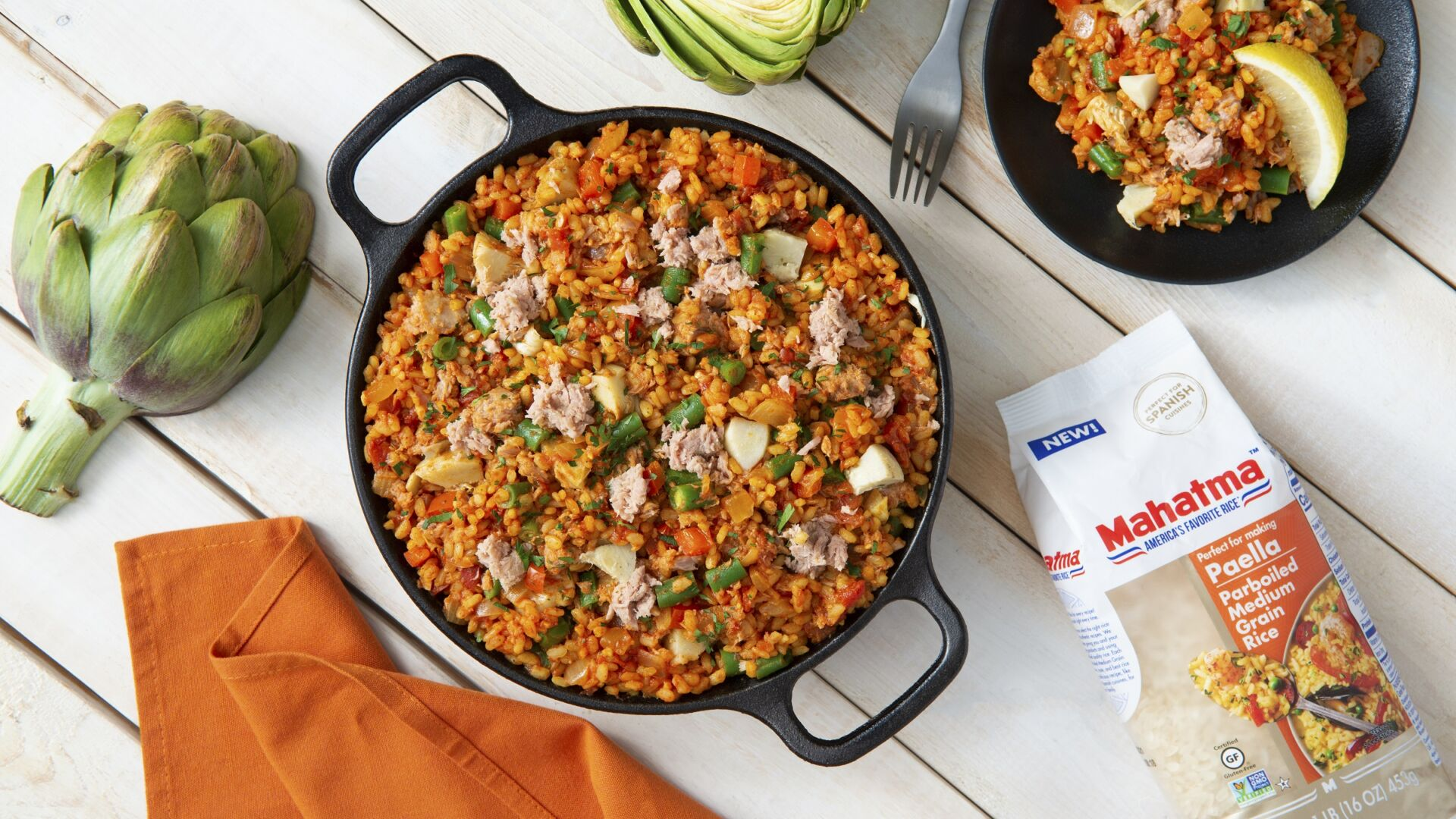 Tuna and Artichoke Paella
