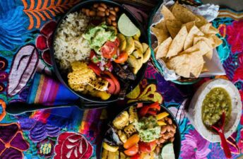 Green Chile and Grilled Vegetables Burrito Rice Bowl