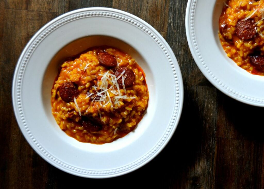 Chorizo and Manchego Risotto with Arborio Rice