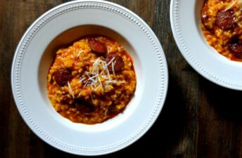 Chorizo and Manchego Risotto