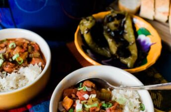 Mexican Jambalaya with chilies and rice