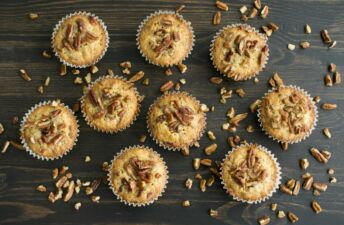 Savory Rice muffins with nuts