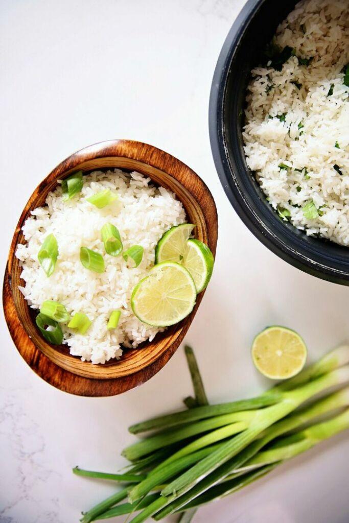 Rice Cooker coconut rice recipe