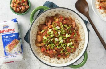 Mexican-Jambalaya-with-Sausage-and-Basmati-Rice
