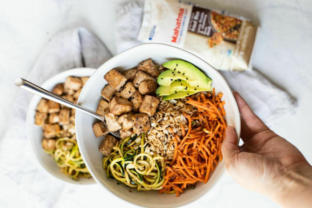 Asian Tofu Fried Rice Bowls