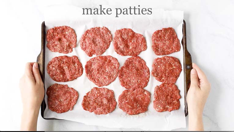 12 formed burger patties