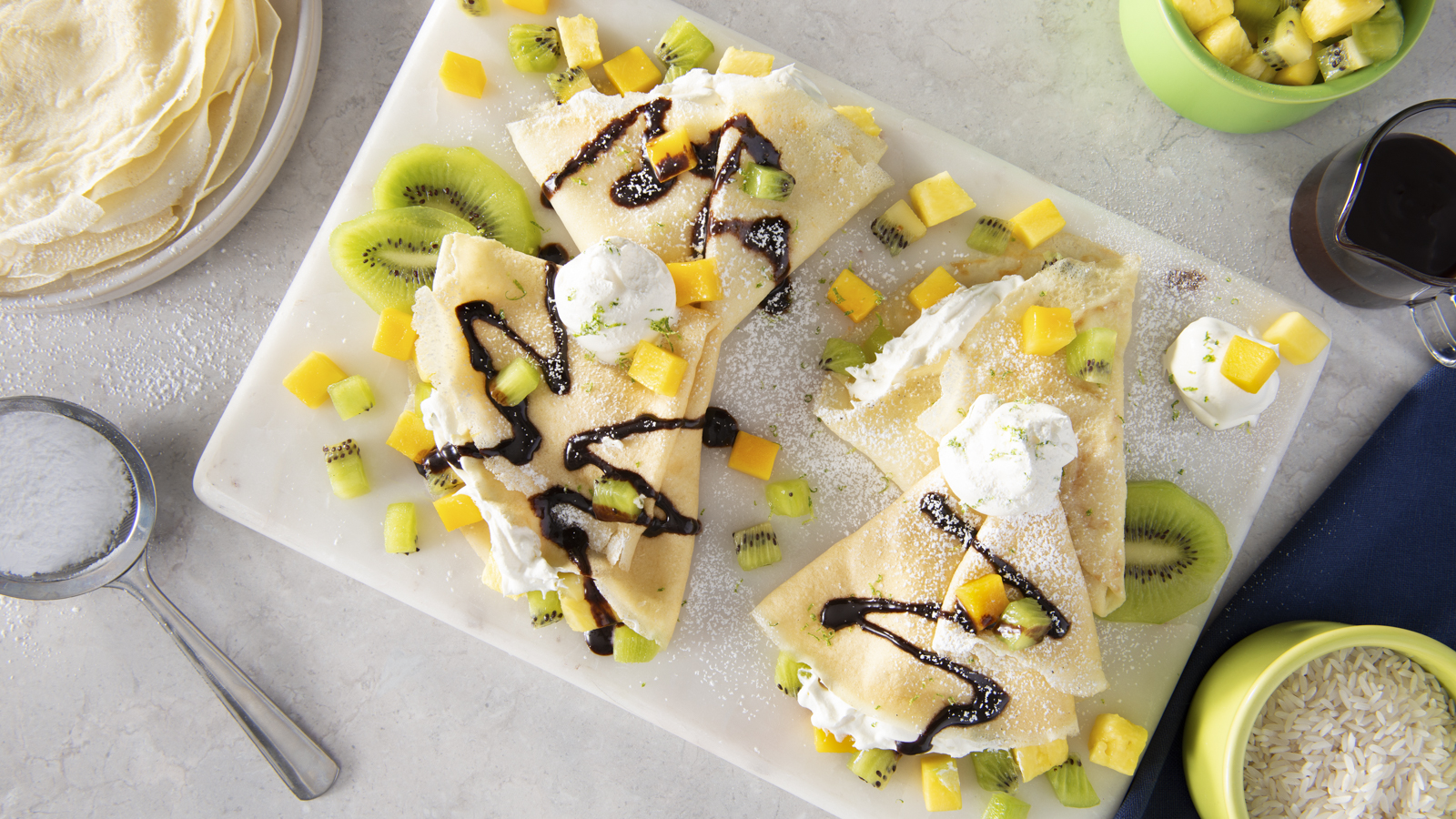 Street Fair Rice Crepes with Tropical Fruit