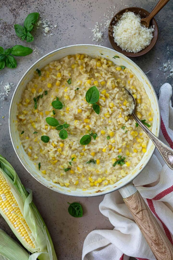 Creamy Sweet Corn Risotto