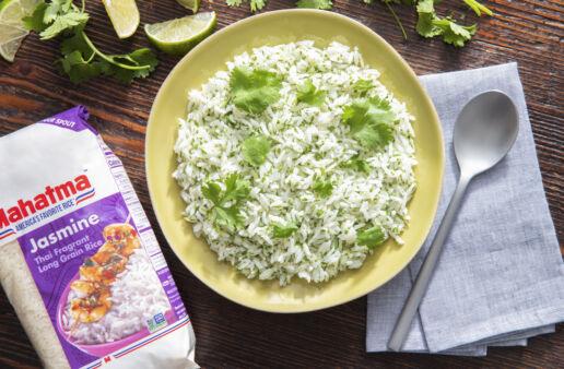 Cilantro-Lime-Rice with jasmine rice