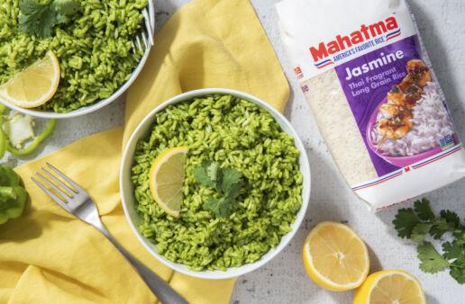 Green poblano rice with jasmine