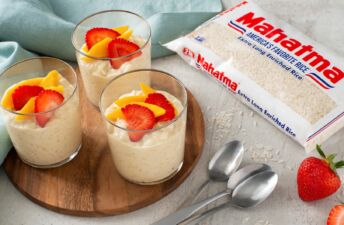 Tres Leches Rice Pudding with fruit