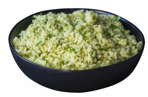 guacamole-rice-with-white-rice-and-salsa