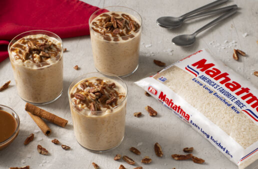 Rice pudding with cajeta and pecans