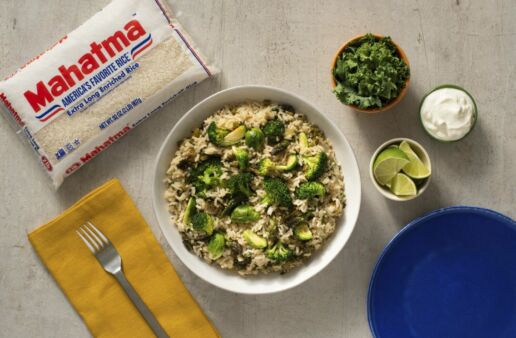 green-rice-with-kale-cilantro-brussel-sprouts-broccoli-and-asparagus-made-with-mahatma-white-rice