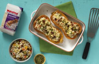 Butternut-squash-stuffed-with-jasmine-rice-and-apple