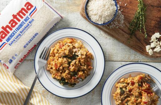 White Bean-Rice-&-Chorizo-Casserole