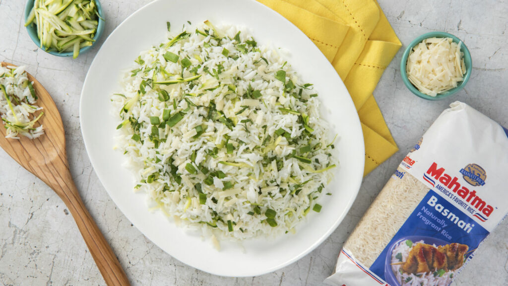 Zucchini Rice with Basmati and Parmesan