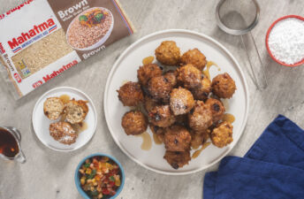 christmas-cake-rice-fritters-with-mahatma-brown-rice