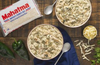 creamy-rice-with-nopalitos-and-shredded-leftover-turkey