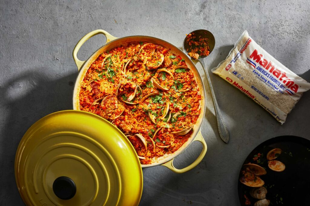 Dirty-rice-recipe-by-chef-pati-jinich-with-clams-and-mahatma-white-rice