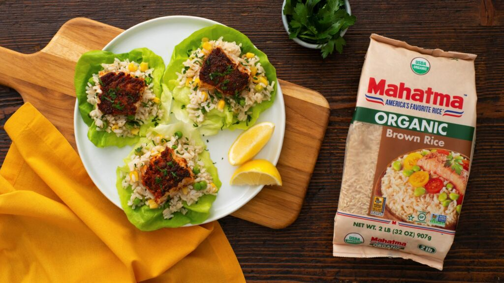 Cajun-Seasoned-fish-and-rice-lettuce-wraps