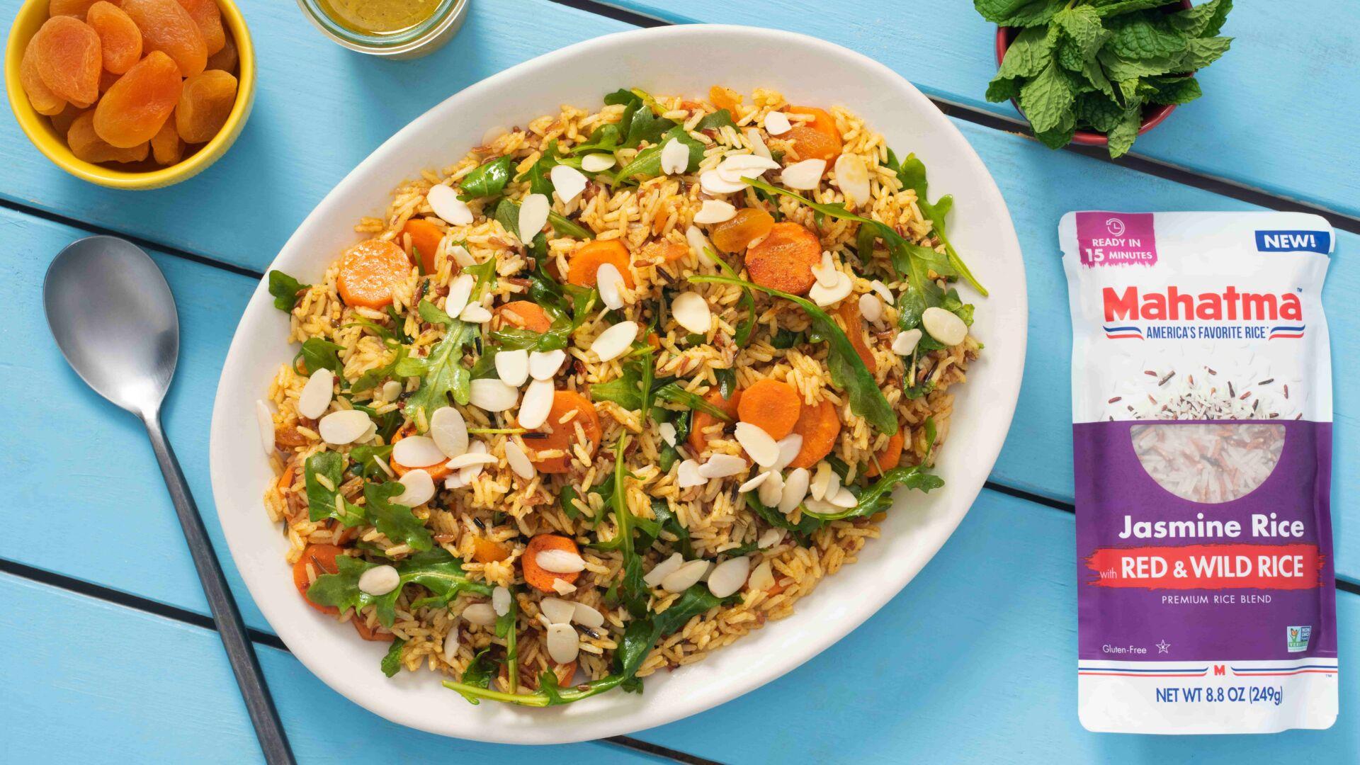 Ensalada marroquí con arroz salvaje