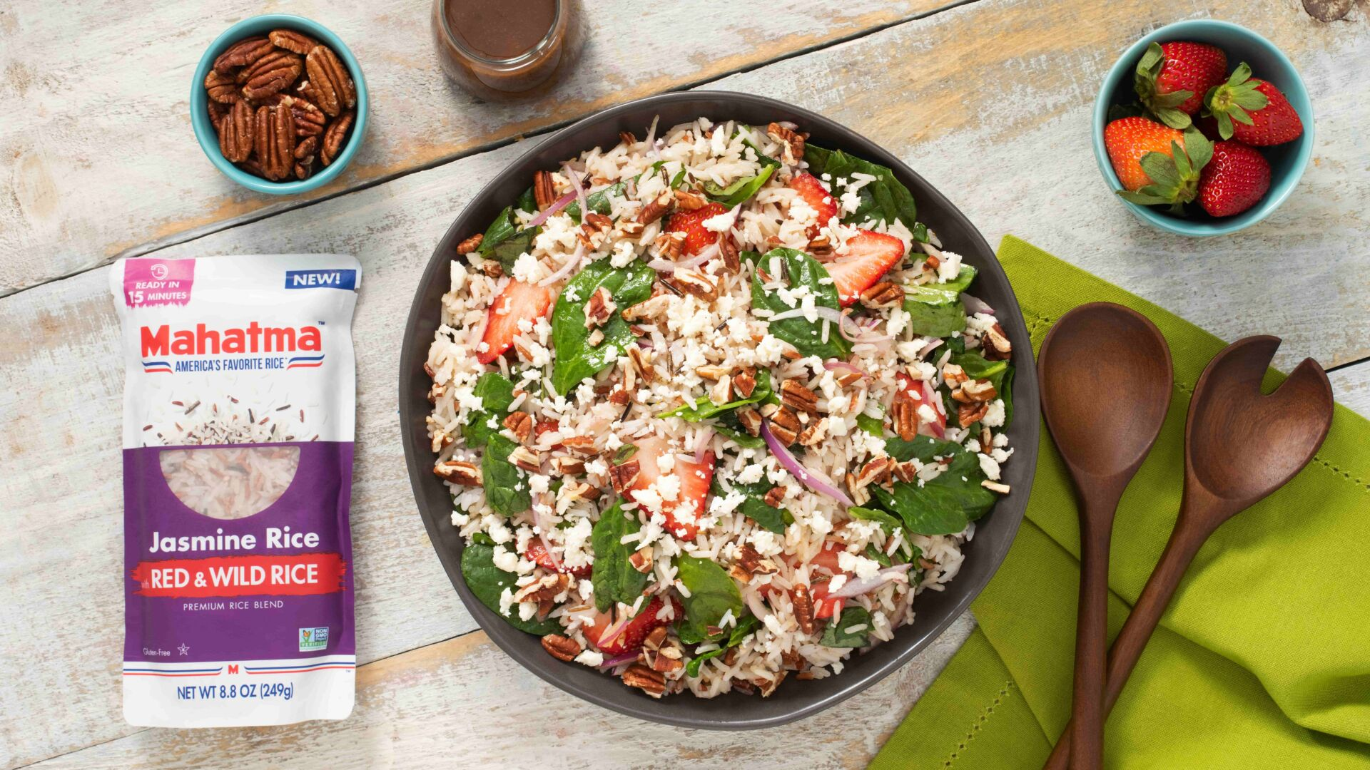 Wild Rice and Strawberry Salad