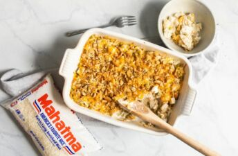Turkey and Rice Casserole with Cheese