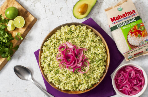 organic-white-rice-with-avocado-cilantro-and-lime-topped-with-pickled-red-onions